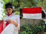 Potret Eddy Maliq Meijer, Putra Maudy Koesnaedi dalam Busana ala Paskibra saat Rayakan HUT ke-75 RI
