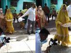 VIRAL Video Emak-emak Lewat saat Videografer Merekam Prosesi Nikahan, Pengunggah: Sudah Diingatkan