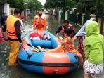 Perumahan Pejaten Indah Banjir, Ketinggian Air Lebih dari Semeter