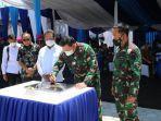KSAL dan Menteri KKP Resmikan Gedung Evert Julius Vence Kondou di Puslatpurmar 7 Lampon