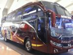 Karoseri New Armada Pamerkan Bus High Deck Double Glass di IIBT 2018