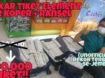 Cerita Pria Tukar 300 Tiket dari Pusat Permainan dengan Handphone, Tiket Harus Dibawa dengan Koper