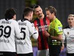 HASIL Spezia vs AC Milan, Rossoneri Buntu di Babak Pertama, Ibrahimovic Cs Nihil Tembakan On Target