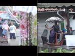VIRAL Gelaran Pernikahan Saat Banjir, Meja dan Kursi Disusun Jadi Jembatan Dadakan untuk Lewat Tamu