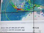 Gempa M 5,6 Mengguncang Sukabumi, Tidak Berpotensi Tsunami, Terasa sampai Tangerang-Bogor