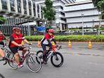 Gowes Bareng Rute GBK-Monas, PDIP Dorong Wartawan Hidup Sehat