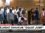Video Gubernur NTT Viktor Laiskodat Hukum Dua Pejabat Bank Squat Jump, Lantaran Keliru Tanda Tangan