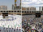 Foto-foto Dramatis Pelaksanaan Haji 2020, Jamaah Wajib Kenakan Masker dan Berjaga Jarak