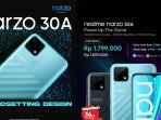Harga dan Spesifikasi Realme Narzo 30A di Indonesia: Rp 1,8 Juta Usung Helio G85