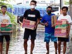 Hari Nur Yulianto Striker PSIS Semarang Berpartisipasi Bantu Korban Banjir Kota Semarang