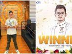 Kalahkan Audrey, Jerry Andrean Jadi Juara Masterchef Indonesia Season 7, Hanya Beda 10 Poin
