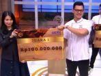 Pemenang MasterChef Indonesian Season 7 Bawa Pulang Hadiah Uang Tunai Rp 100 Juta