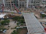 Capai Progres 45 Persen di Januari, Konstruksi JIS Masuki Tahap Pemasangan Girder Ramp