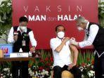 BREAKING NEWS, Divaksin Pertama Kali, Jokowi: Gak Terasa Sama Sekali