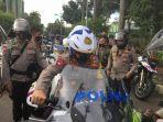 Pakai Moge, Kapolda Metro Jaya Bersama Kesdam Jaya Pimpin Patroli Skala Besar di Jakarta