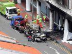 Kecelakaan Maut Tewaskan 5 Orang, 1 Pria Histeris, Mobil Mewah Ngebut lalu Terbakar