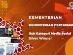 Media Sosial Kementan Raih Penghargaan di Ajang PR Indonesia Award