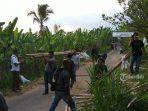 Polisi Bongkar Blokade Jalan yang Dilakukan Warga Dusun Selasih, Payangan, Gianyar