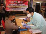 Ratusan Personel dan PNS Polri di Polda Kalsel Mengikuti Donor Darah Plasma Konvalesen