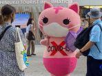 Jepang Perkenalkan Maskot Anti Virus Corona Baru yang Bagikan Masker Gratis