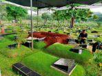 Jelang Pemakaman Ricky Yacobi, Hujan Membasahi TPU Tanah Kusir
