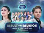LIVE STREAMING Indonesian Idol Result and Super Reunion: Ada Duet Mark x Krisdayanti & Rimar x Fadly