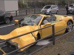 Kecelakaan Tunggal, Ferrani Ringsek di Tengah Kota Tokyo Jepang