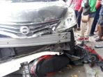 Panik karena Perut Kram Saat Mengemudi, Ibu Hamil Tabrak Tujuh Motor Parkir di Sidoarjo