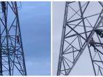 Wanita Panjat Tower Setinggi 60 Meter di Medan Amplas, Ini yang Dilakukan