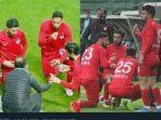 Momen Bukber Dadakan Pemain Liga Turki di Tengah Laga, Takjil Pisang dan Kurma