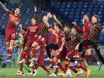 HASIL Liga Italia - Menangi Derbi Ibu Kota, AS Roma Kirim Lazio ke Liga Eropa