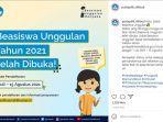 Pendaftaran Beasiswa Unggulan 2021 Telah Dibuka, Akses di puslapdik.kemdikbud.go.id, Ini Syaratnya