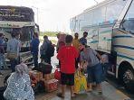 H-2 Larangan Mudik, Keberangkatan Penumpang di Terminal Terpadu Pulo Gebang Tembus 1.000 Orang