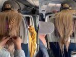 Wanita Ini Terekam Tempel Permen Karet pada Rambut Penumpang di Depannya, Videonya Viral di TikTok