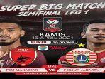 LIVE STREAMING Indosiar PSM vs Persija Piala Menpora 2021, Akses Link di Sini