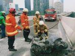 Sepeda Motor Vespa Piaggio Terbakar di JLNT Kasablanka, Diduga Pemicunya Korsleting Listrik
