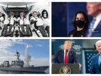POPULER Internasional: 4 Astronot SpaceX Meluncur ke ISS | Trump Lagi-lagi Sebut Biden Curang