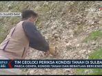 Tinjau Kondisi Tanah di Sulbar Pascagempa, Tim Geologi: Potensi Longsor akan Terus Terjadi
