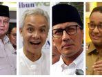 Elektabilitas Prabowo, Ganjar, Anies, hingga Sandiaga di 5 Survei Capres 2024 Terbaru