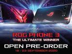 Asus ROG Phone 3 Dipastikan Masuk Indonesia, Pre-Order Dibuka hingga 23 September 2020
