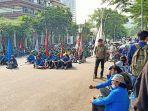 Mahasiswa Gelar Unjuk Rasa Peringati Hari Sumpah Pemuda, Soroti Soal UU Cipta Kerja