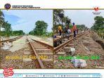Banjir Mulai Surut, Rel Kereta di Jalur Lemah Abang-Kedunggedeh Mulai Diperbaiki