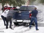 Cuaca Dingin Ekstrem Texas: Warga Sulit Air dan Listrik, Joe Biden Deklarasikan Status Bencana Besar