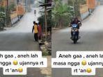 VIRAL Video Hujan Deras Hanya Guyur Satu RT, Wilayah Lainnya Kering, Ini Pengakuan Perekam