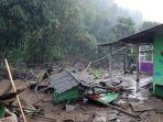 Sejumlah Rumah Hilang Diseret Banjir Bandang di Kawasan Puncak Bogor