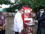 Cegah Covid-19, PMI Bagikan Poster Cara Cuci Tangan untuk Ditempel di Pondok Pesantren