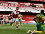 Hasil Liga Inggris, Menang Telak 3-1, Arsenal Kirim West Brom ke Championship Musim Depan