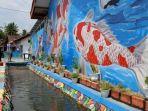 Indahnya Selokan di Desa Ngrajek Magelang Berhias Mural, Airnya Jernih dan Berisi Banyak Ikan