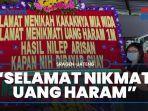 Setelah Heboh Karangan Bunga Selamat Menikmati Uang Haram Rp 1 Miliar, Wanita Ini Beri Klarifikasi