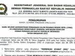 Setjen DPR RI Umumkan Sejumlah Nama yang Lolos Seleksi Administrasi CPNS 2019, Cek di Sini